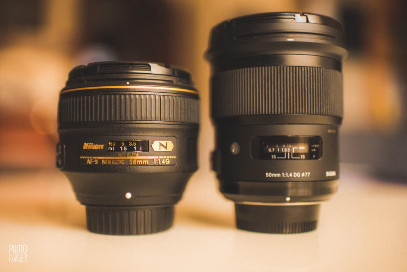 Nikon 58 AF-S Vs Sigma 50 ART, Nikon 58 AF-S VS 50 Sigma Art, Federico Pannacci, Federico Pannacci