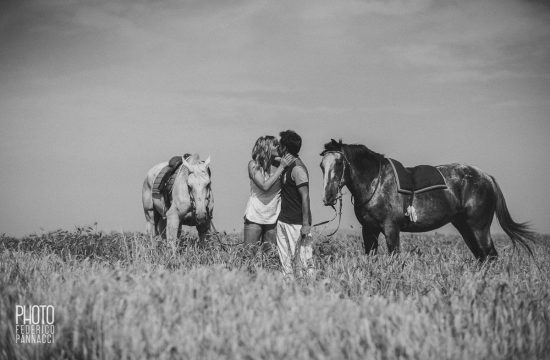 Engagement by Horses Nearby Castello di Leonina 28