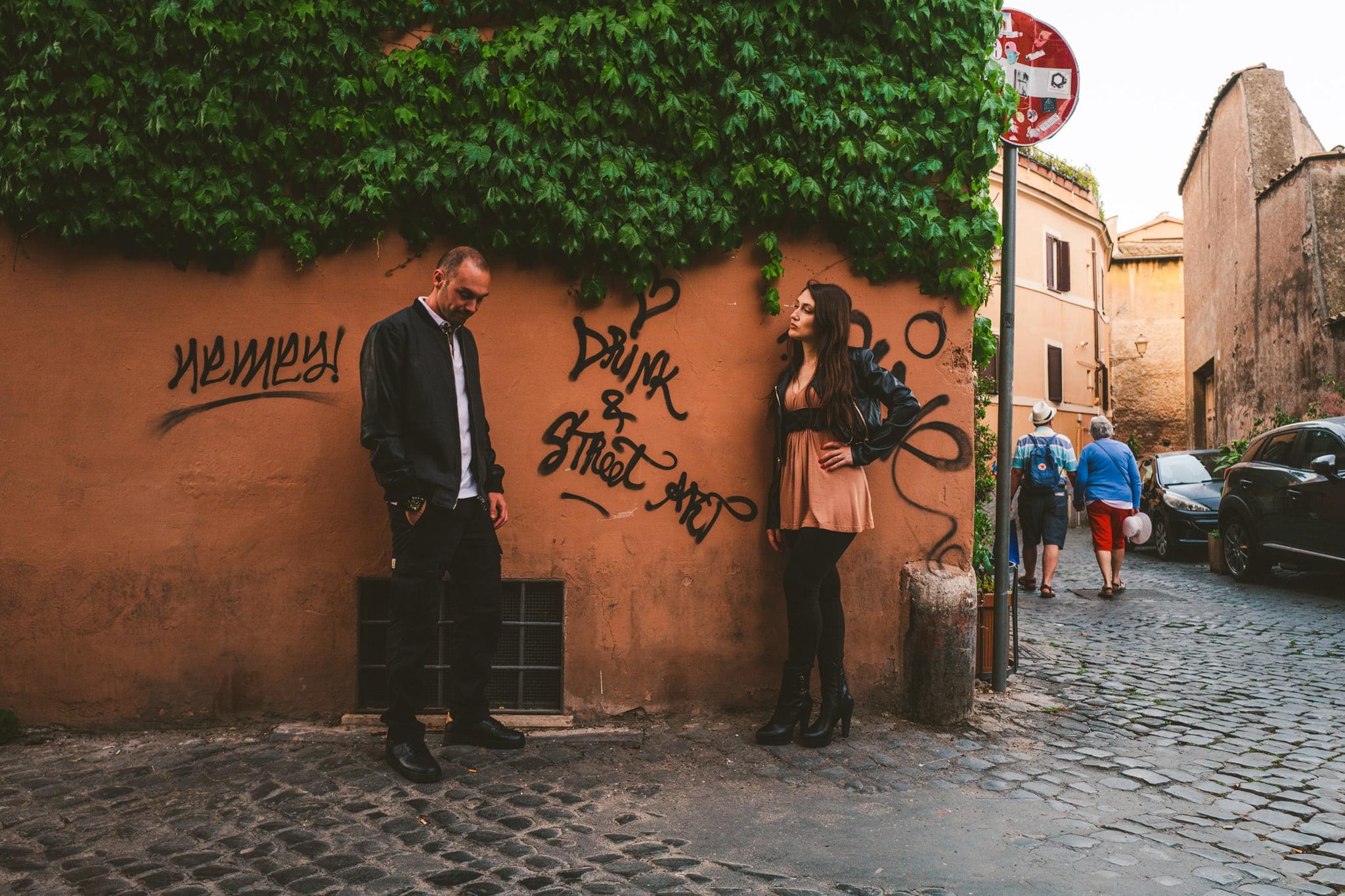 Prewedding Photography in Rome, Prewedding Photography in Rome, Trastevere by Federico Pannacci, Federico Pannacci, Federico Pannacci