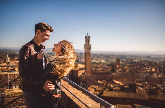 Engagement and Portrait Couple in Siena, Tuscany 36